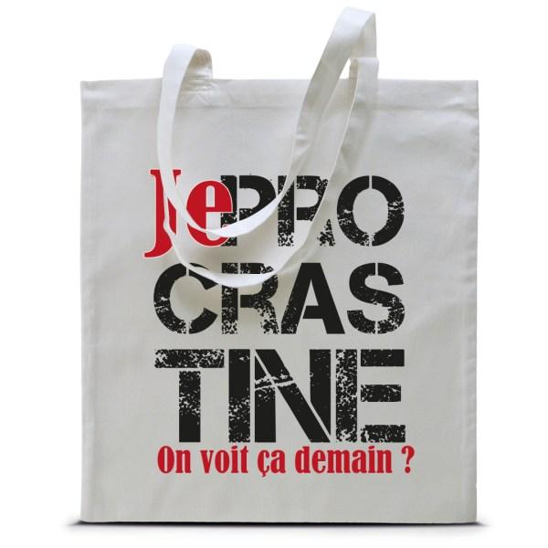 """Tote bag """"Je procrastine"""""""