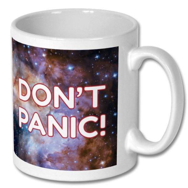 """Mug Marvin """"Don't Panic!"""""""