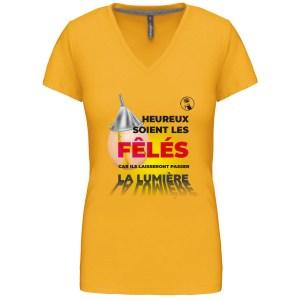 T-shirt Audiard «Heureux soient les fêlés…»