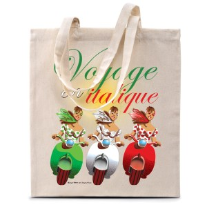 Tote bag «Voyage en italique»