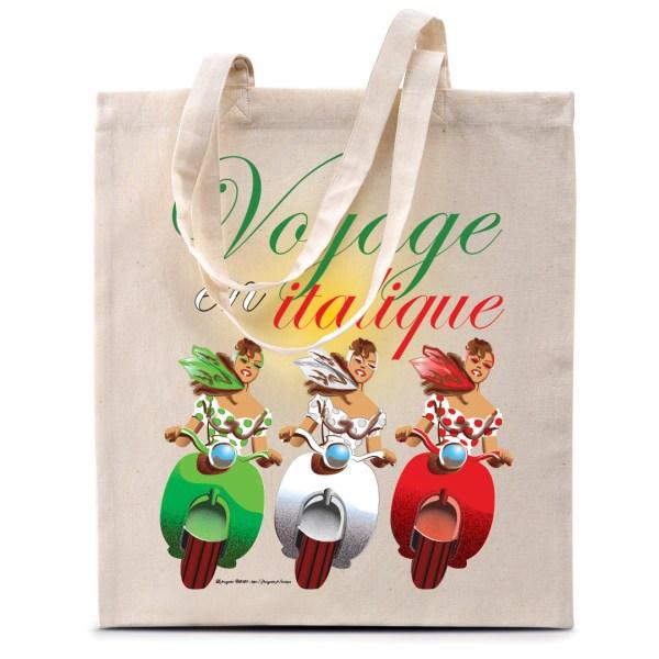 """Tote bag """"Voyage en italique"""""""