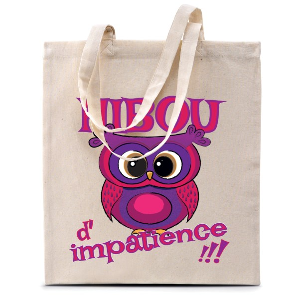 "Tote bag ""Hibou d'impatience !"""