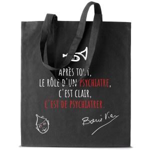 Tote bag Boris Vian «Le rôle d'un psychiatre…»