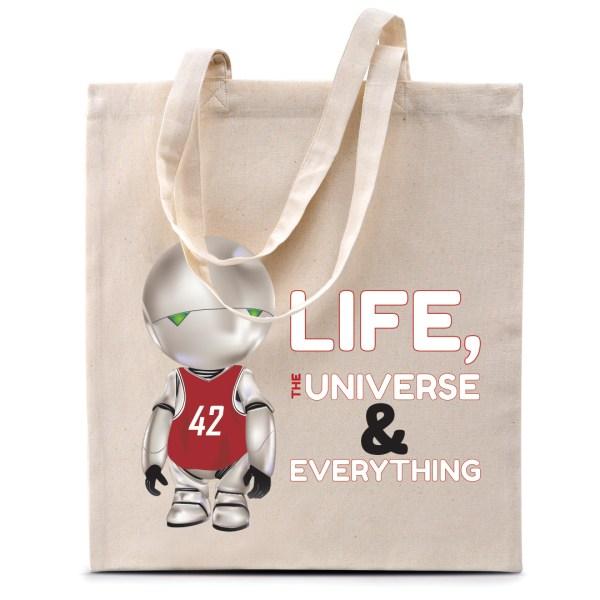 "Tote bag Marvin (H2G2) ""42"""
