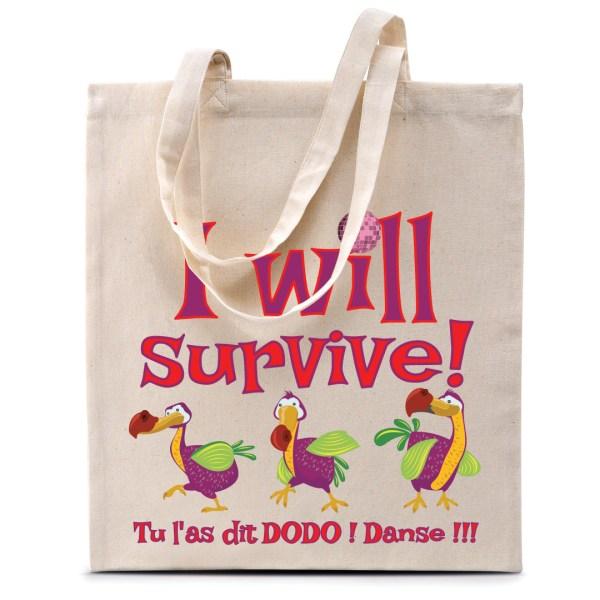 """Sac coton """"Dodos - I will Survive"""""""