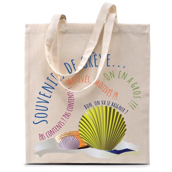 """Tote bag """"Souvenirs de grève"""""""