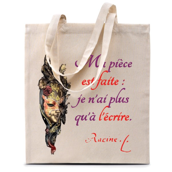 "Tote bag Racine ""Ma pièce est faite..."""