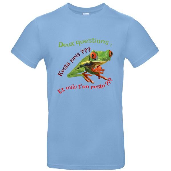 "T-shirt ""Deux questions"""