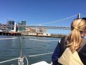 Sailing under Bay Bridge 4.11.15