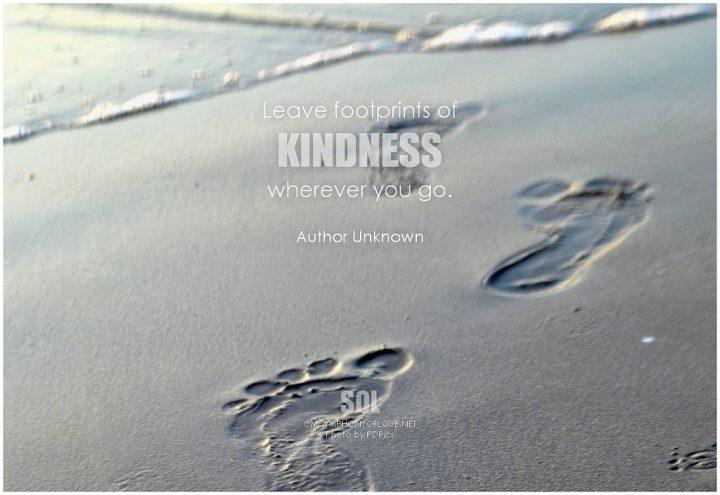 Footprints of kindness