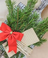 Christmas letter w bow