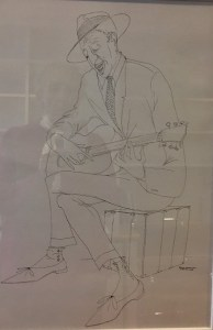Benny Andrews drawing