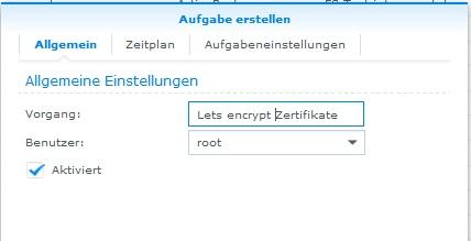 Zertifikate automatisch verlängern