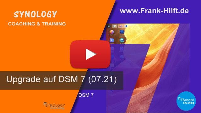 Upgrade auf Synology DSM 7