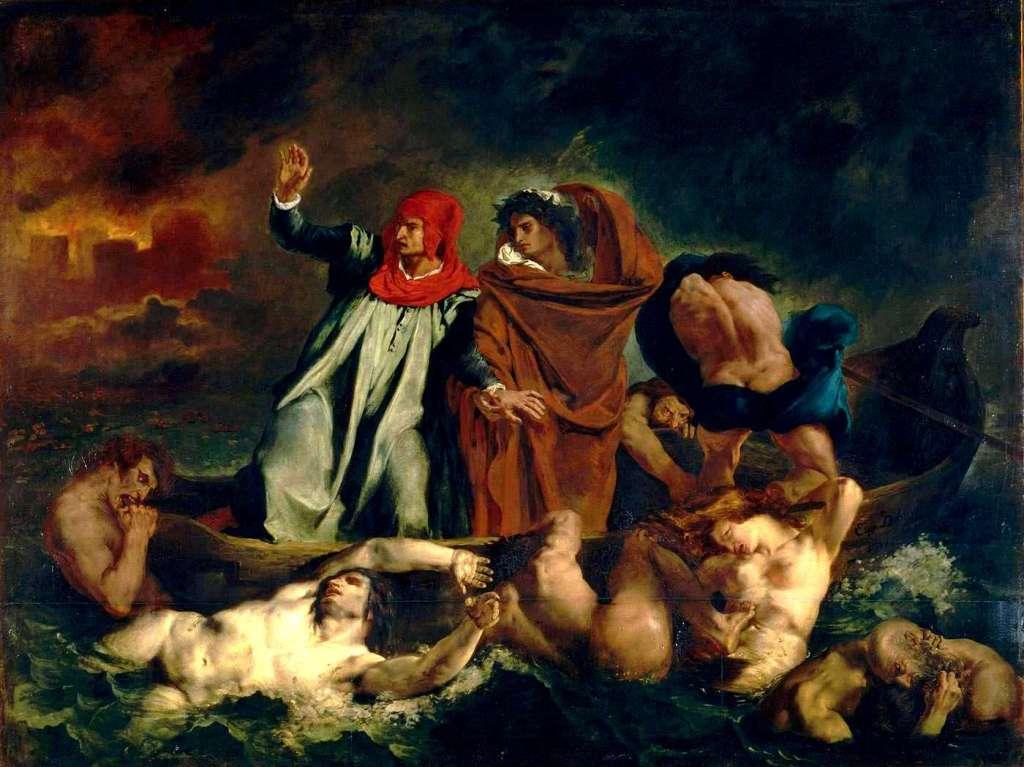 Eugène_Ferdinand_Victor_Delacroix-La Barque de Dante - Don Juan aux enfers - Lovisolo