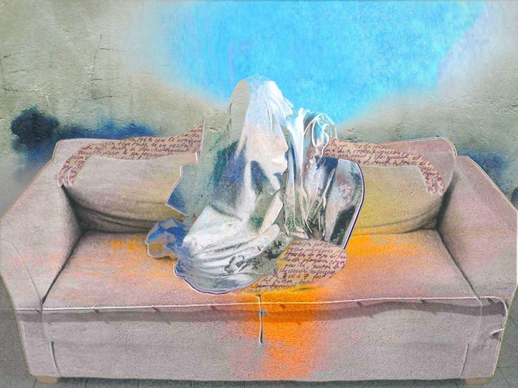 Charles Baudelaire - Le revenant - Lovisolo - Irving Penn,  1949  Girl in Bed on the Telephone.