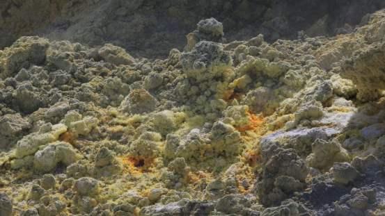 Isola di vulcano - Cristaux de soufre