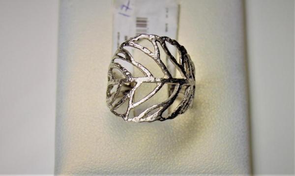 Кольцо-листик без вставок