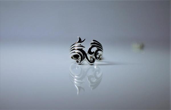 Кольцо-Boho с растительным орнаментом