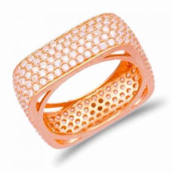 Позолоченное квадратное кольцо с цирконом