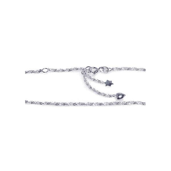wholesale sterling silver Star Heart Anklet