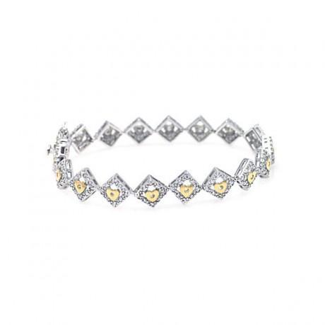wholesale silver yellow cz bracelet