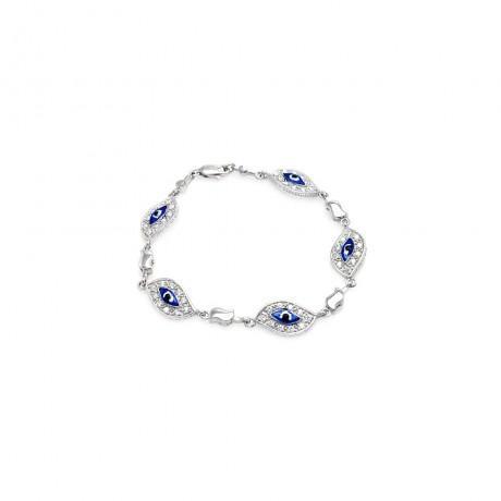 wholesale silver evil eye cz bracelet158