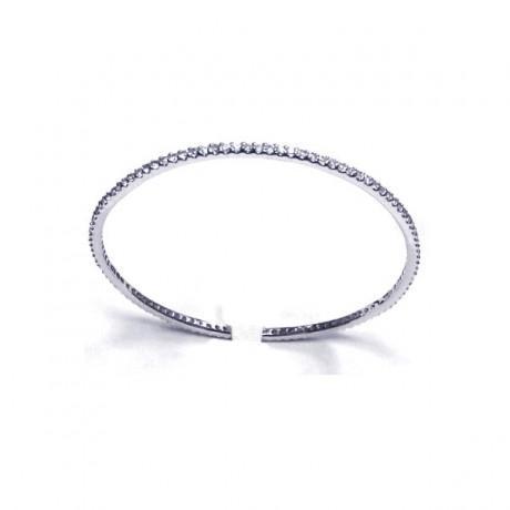 wholesale silver cz bangle bracelet21