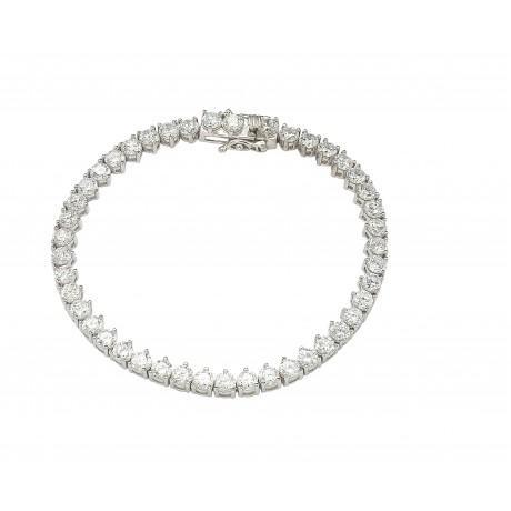wholesale silver cz tennis bracelet