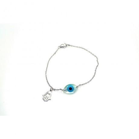 wholesale silver hamsa evil eye and star of david black cord bracelet