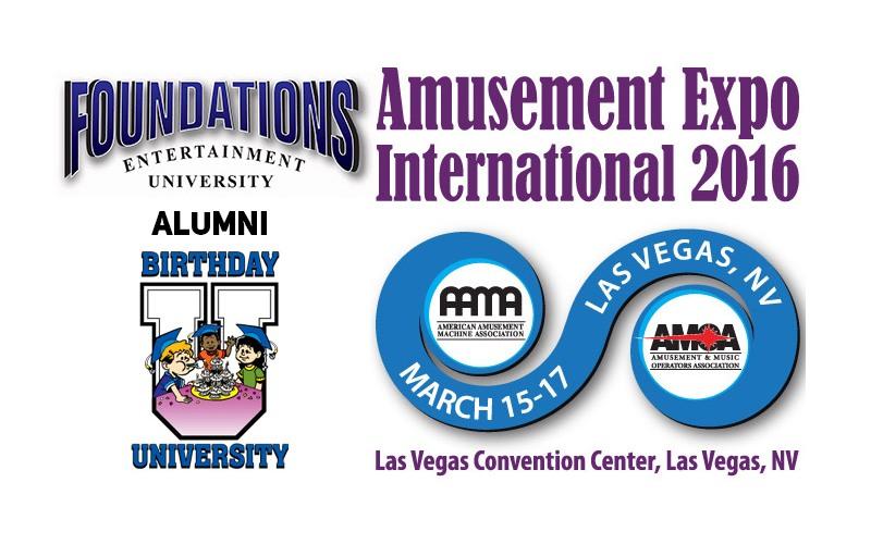 Amusement Expo International 2016 HUGE Discount for Foundations & Birthday University Graduates