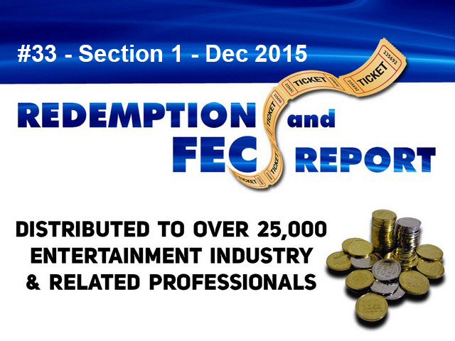 Breaking News – The Redemption & Family Entertainment Center Report – Dec 2015