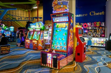 Games and Treasure Chest Redemption Prize Center. Note the special carpeting. Games layout by Alpha-Omega Sales/AEM Team