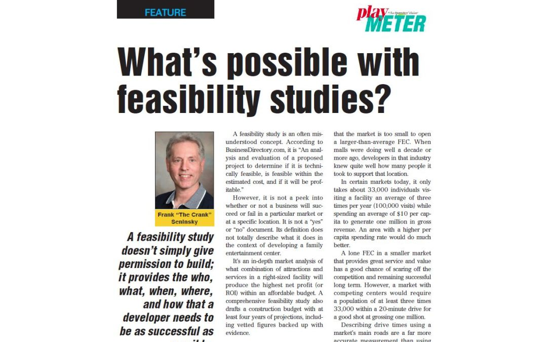 What's possible with feasibility studies?