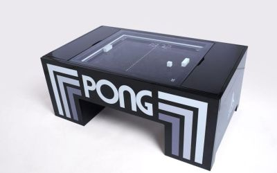New Atari Pong tables from UNIS featured at the CES 2019 in Las Vegas NV