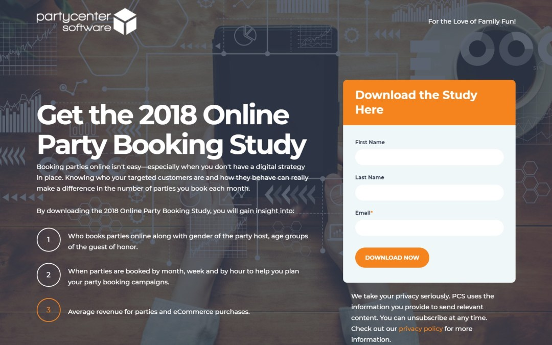 Party Center Software Publishes 'Online Party Booking Study 2nd Edition'