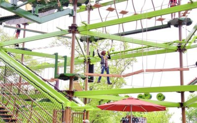"Philadelphia Zoo's WildWorks ""Sky Trail"" (Ropes Courses, Inc.) makes its debut May 7"