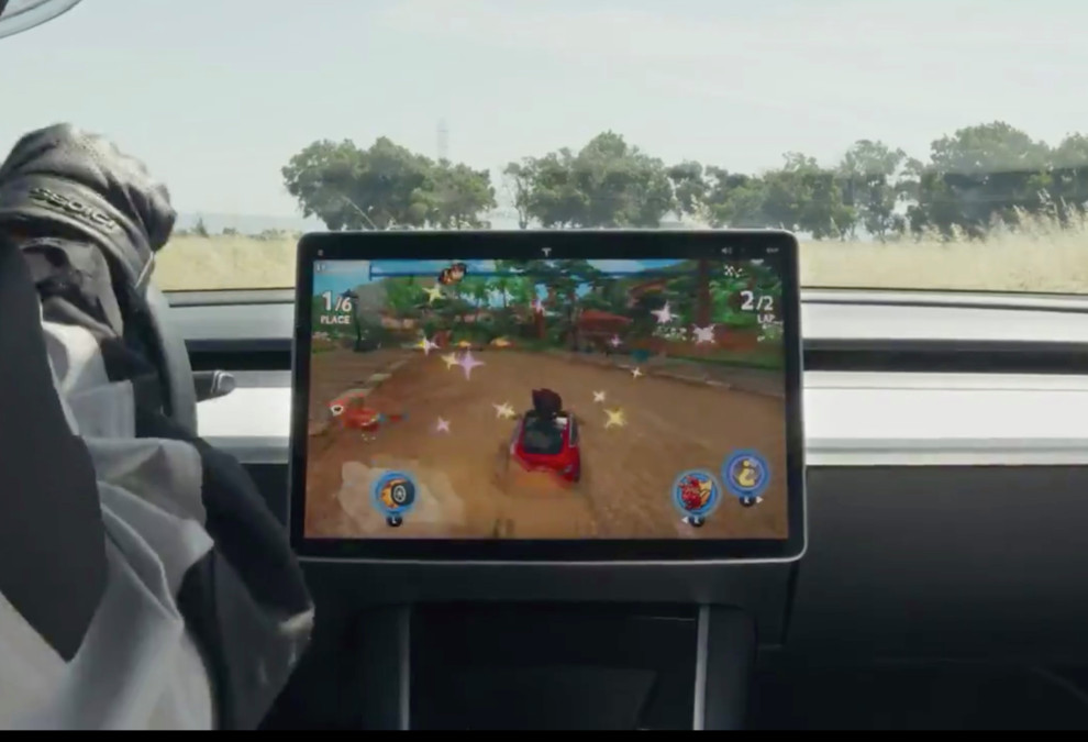 Tesla Cars now come with 'ToyBox' where Arcade Video Games can be watched when car is in 'park'