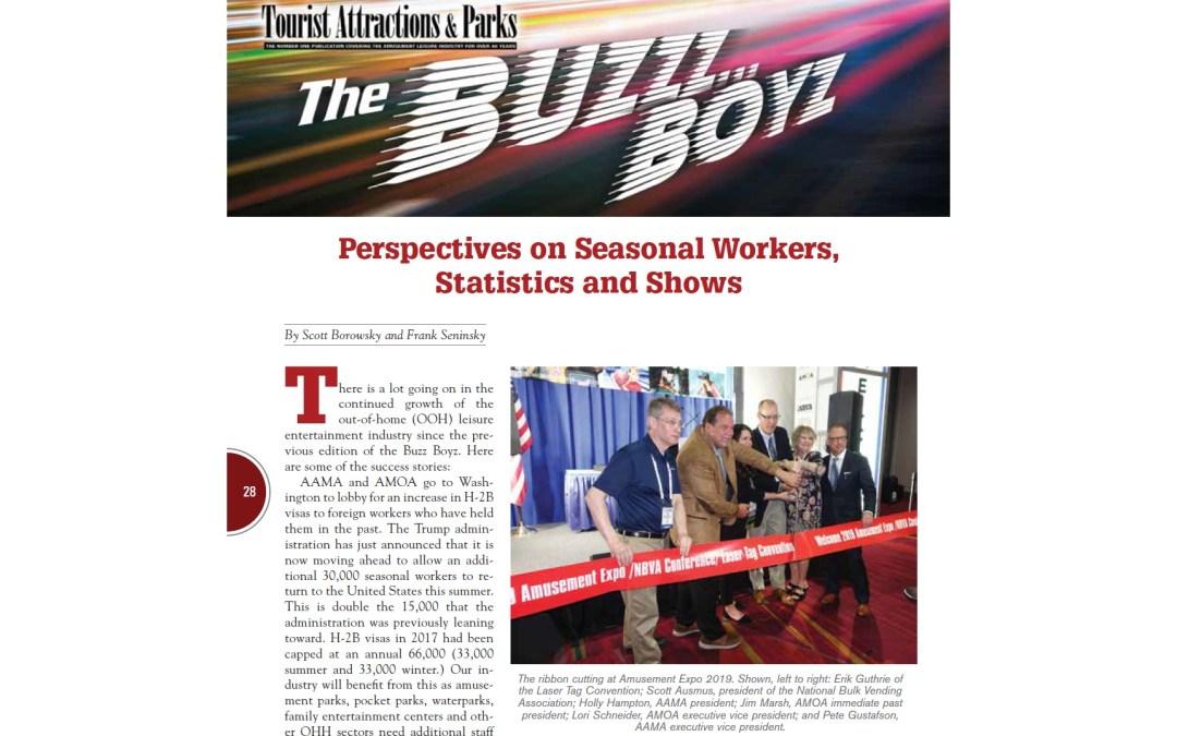 Perspectives on Seasonal Workers (H-2B visas), Statistics and Amusement Expo International