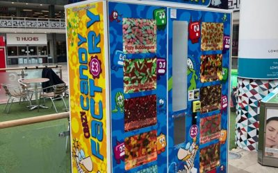 Crazy Candy Factory (Blue Monkey Vending) is the World's 1st 'Digital' Sweet Vending Machine