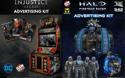 Raw Thrills has New Advertising Kits for both Injustice & Halo