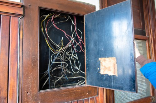 small resolution of a wiring box not a fuse box in the operations office this really looked like something out of an escape room