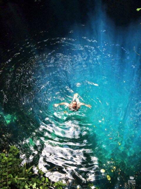 Nadar en cenotes de Yucatán