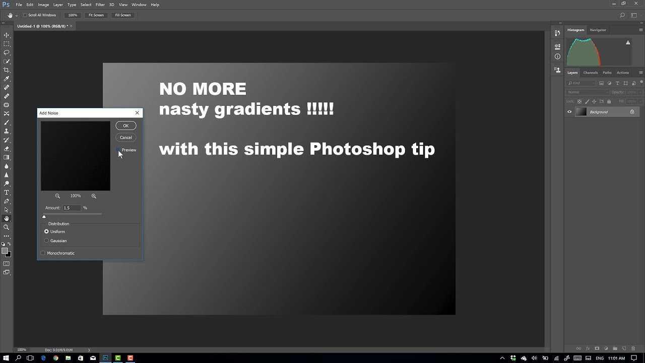 Photoshop tip : No more nasty gradients DC | Frank Doorhof