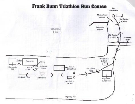 Frank Dunn Triathlon Run Map