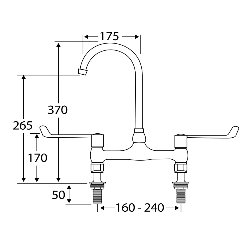 F1075N Lever operated mixer tap