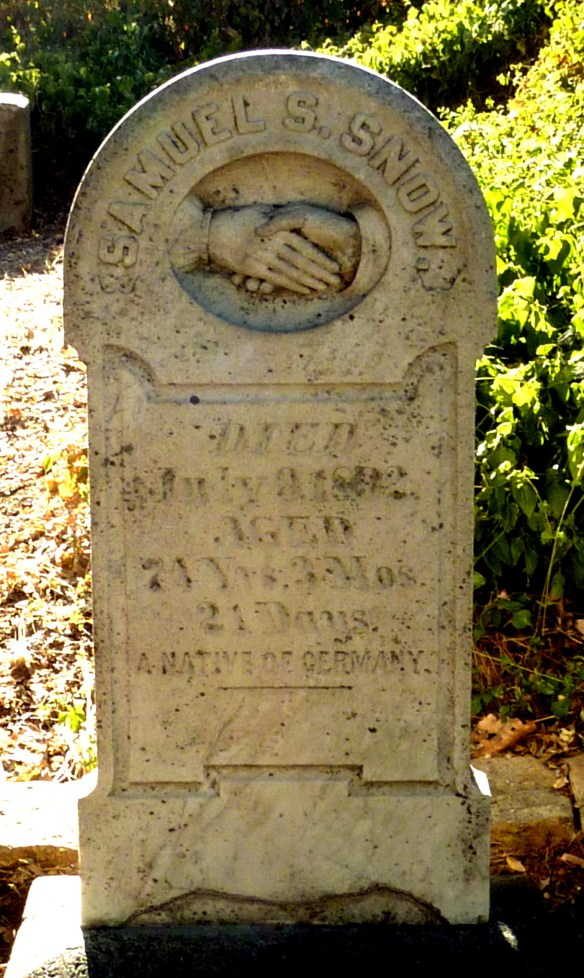 Placerville headstone