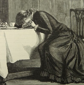 A Victorian woman, drawn by Luke Fildes and published in 1880