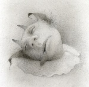 'Sleepy Soloman', sketch by Travis Louie, 2012.