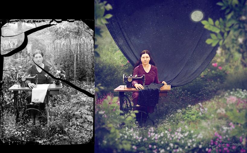 jane-long-immortalizes-vintage-photos-dancing-with-costica-designboom-05